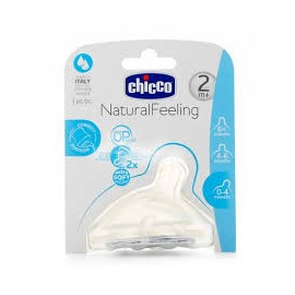 CHICCO TETINA SILICONA NATURAL FEELING 2M+
