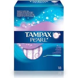 TAMPAX PEARL TAMPON 100%ALGODON LITES 18 U