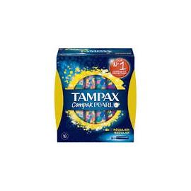 TAMPAX COMPAK PEARL TAMPON 100%ALGODON REGULAR 1