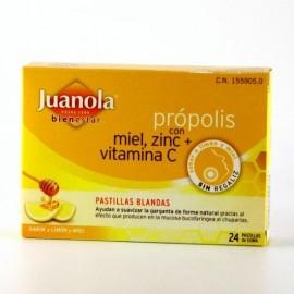 JUANOLA PROPOLIS PASTILLAS LIMON MIEL 24 PASTILL