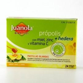 JUANOLA PROPOLIS HIEDRA PASTILLAS MIEL LIMON 24