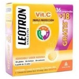 LEOTRON VIT C 36+18 COMP EFERVESCENTES