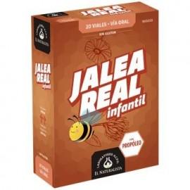 JALEA REAL INFANTIL EL NATURALISTA 100MG 20 VIALES