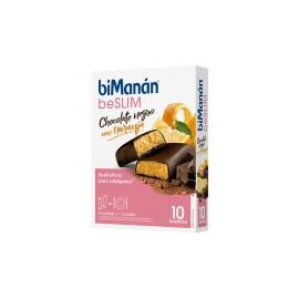 BIMANAN BARRITA CHOCOLATE NEGRO Y NARANJA 10 BARRITAS