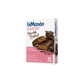 BIMANAN BARRITA CHOCOLATE NEGRO FONDANT 10 BARRITAS