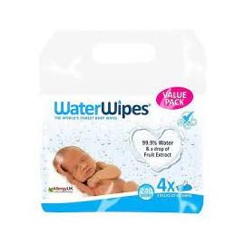 TOALLITAS WATERWIPES 4 ENVASES 60 UNIDADES PACK AHORRO