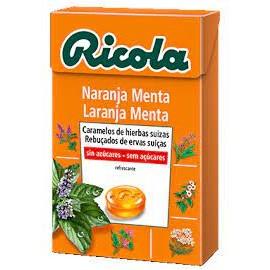 RICOLA CARAMELOS SIN AZUCAR NARANJA 50 G