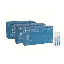 Cinfa solución fisiológica 5 ml 20 u