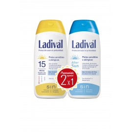 Ladival 15 sun gel crema oil free 200ml + afters