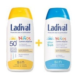 Ladival 50+ sun niños leche 200ml + afters